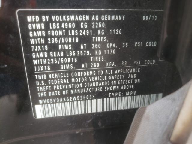 2014 VOLKSWAGEN TIGUAN S WVGBV3AX5EW526633