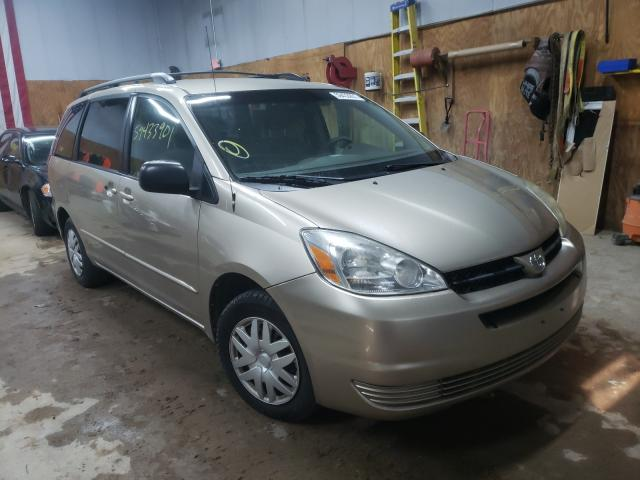 Salvage cars for sale from Copart Kincheloe, MI: 2005 Toyota Sienna CE