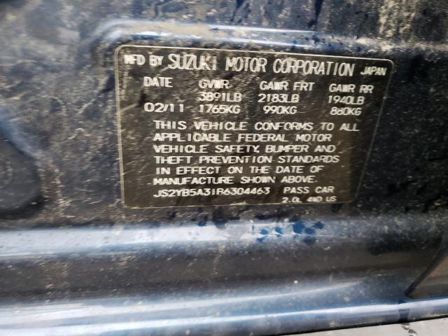 2011 SUZUKI SX4 JS2YB5A31R6304463