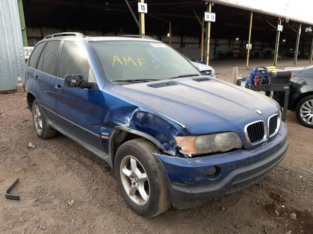 Salvage cars for sale from Copart Phoenix, AZ: 2002 BMW X5 3.0I
