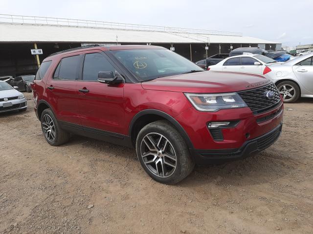 Salvage cars for sale at Phoenix, AZ auction: 2018 Ford Explorer S