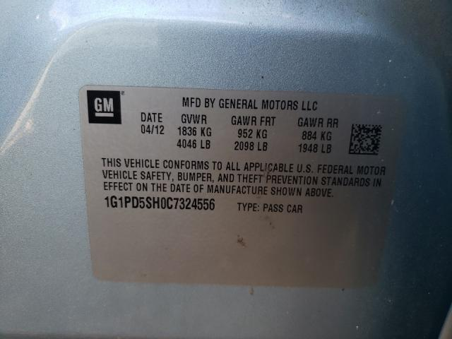 2012 CHEVROLET CRUZE LS 1G1PD5SH0C7324556