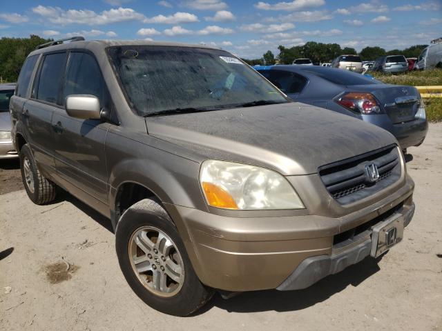 Honda Pilot EXL salvage cars for sale: 2005 Honda Pilot EXL