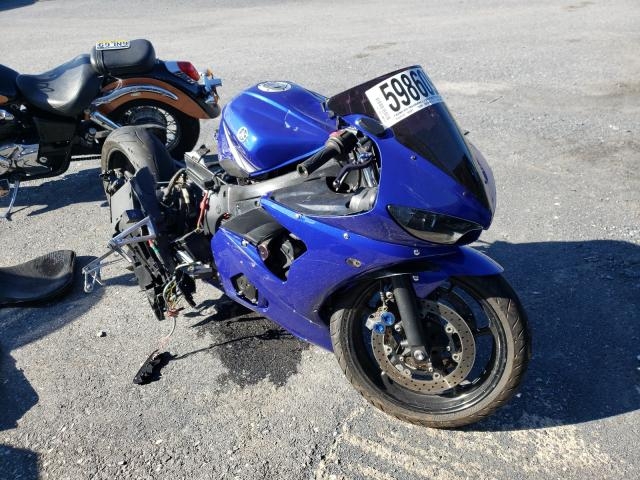 Salvage cars for sale from Copart Grantville, PA: 2004 Yamaha YZFR6 L