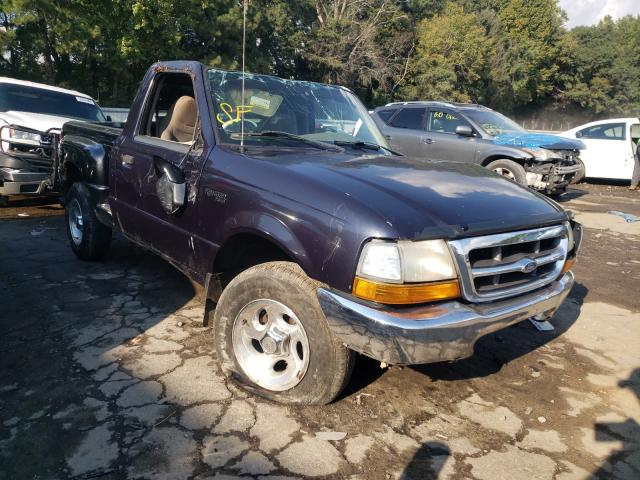 Salvage cars for sale from Copart Austell, GA: 2000 Ford Ranger
