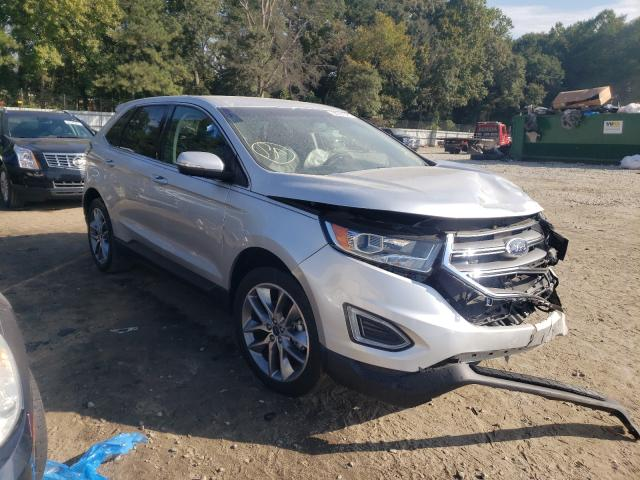 Salvage cars for sale from Copart Austell, GA: 2017 Ford Edge Titanium