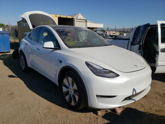 Salvage cars for sale from Copart San Martin, CA: 2021 Tesla Model Y