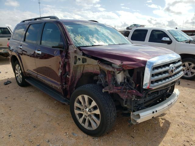 Salvage cars for sale from Copart Andrews, TX: 2011 Toyota Sequoia LI