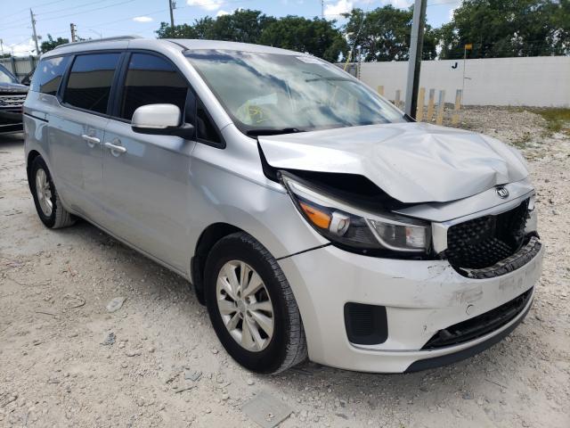 KIA salvage cars for sale: 2016 KIA Sedona LX