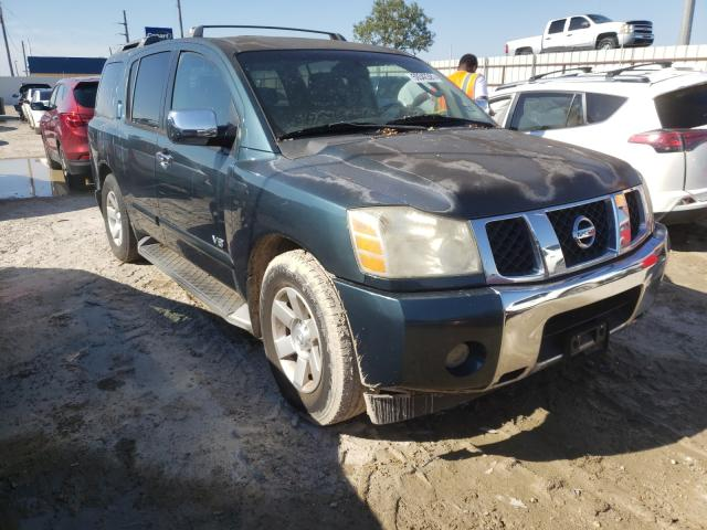 Salvage cars for sale from Copart Temple, TX: 2005 Nissan Armada SE