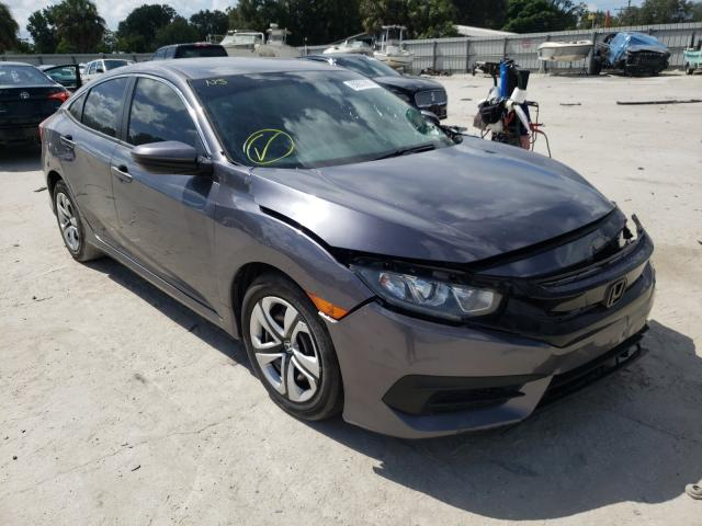 Salvage cars for sale from Copart Punta Gorda, FL: 2018 Honda Civic LX