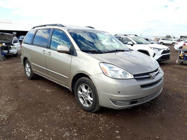 Salvage cars for sale from Copart Phoenix, AZ: 2004 Toyota Sienna XLE