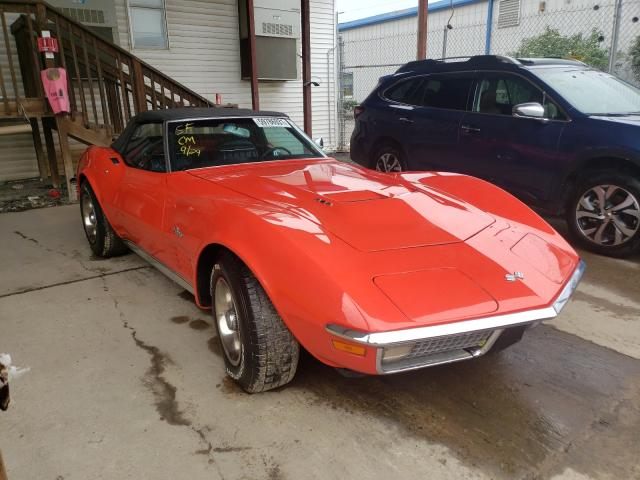 Chevrolet Corvette salvage cars for sale: 1970 Chevrolet Corvette