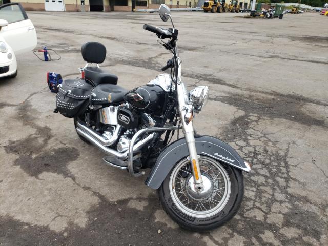 Salvage motorcycles for sale at Marlboro, NY auction: 2012 Harley-Davidson Flstc Heri