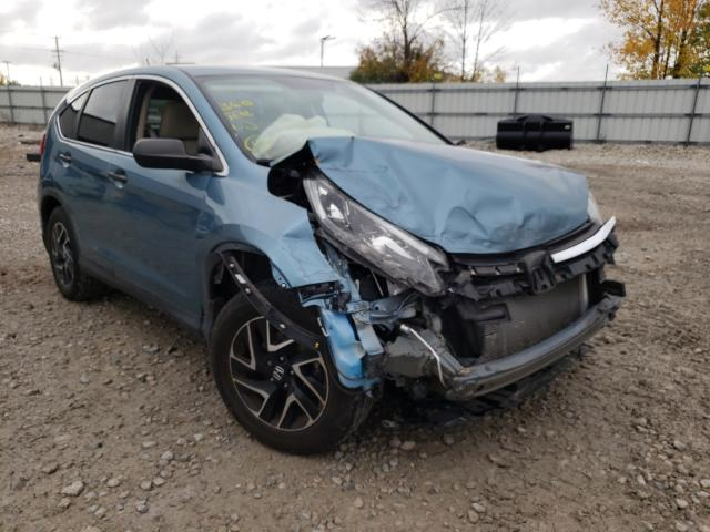 Salvage cars for sale from Copart Appleton, WI: 2016 Honda CR-V SE