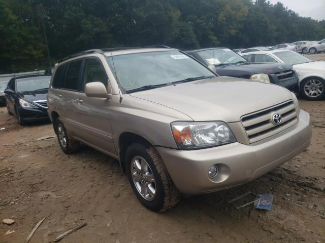 Salvage cars for sale from Copart Austell, GA: 2007 Toyota Highlander