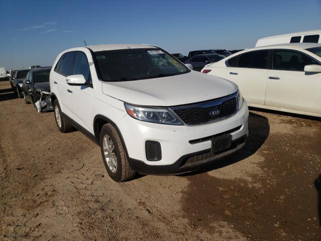 Salvage cars for sale from Copart Amarillo, TX: 2015 KIA Sorento LX