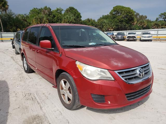 Salvage cars for sale from Copart Fort Pierce, FL: 2009 Volkswagen Routan SEL
