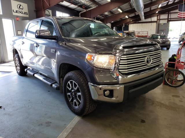 Salvage trucks for sale at East Granby, CT auction: 2017 Toyota Tundra CRE