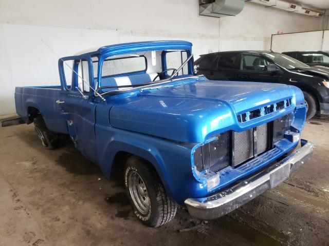 Ford F100 salvage cars for sale: 1959 Ford F100