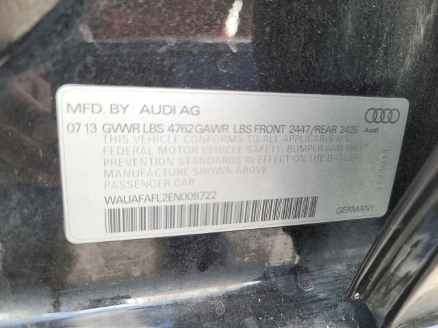 2014 AUDI A4 PREMIUM WAUAFAFL2EN009722