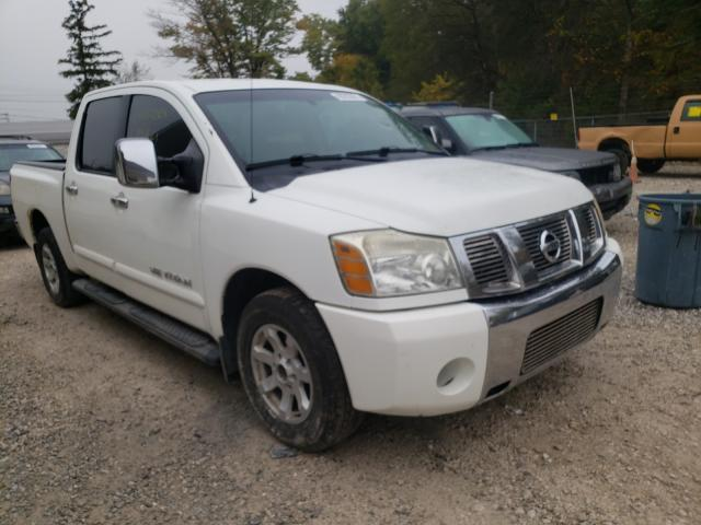 Salvage cars for sale from Copart Northfield, OH: 2005 Nissan Titan XE