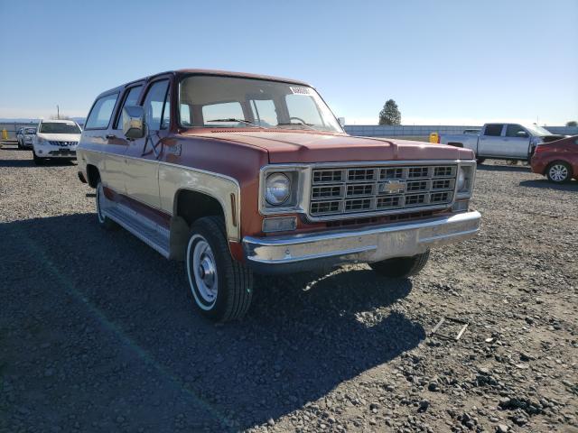 Chevrolet Suburban salvage cars for sale: 1977 Chevrolet Suburban