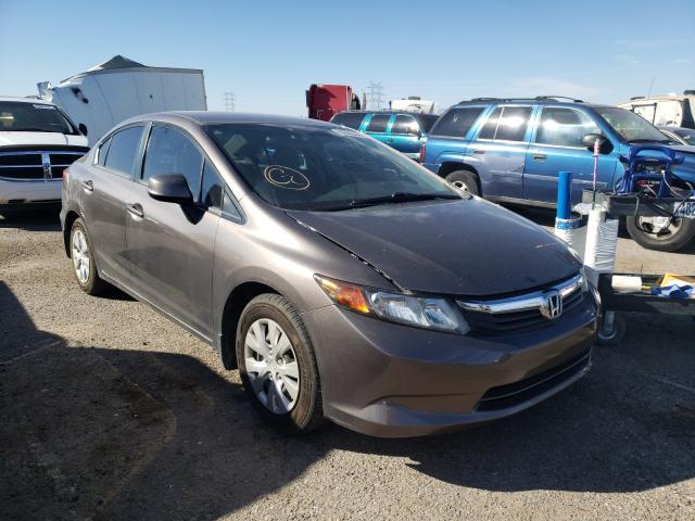 Salvage cars for sale at Tucson, AZ auction: 2012 Honda Civic LX