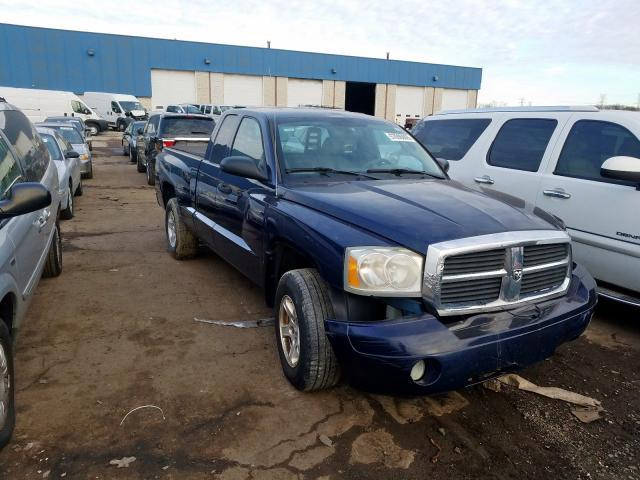 Salvage cars for sale from Copart Woodhaven, MI: 2006 Dodge Dakota SLT