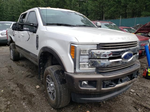 Salvage trucks for sale at Graham, WA auction: 2017 Ford F350 Super