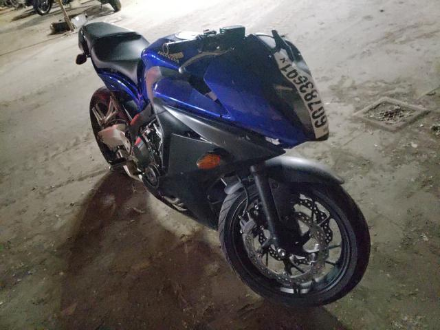 Salvage motorcycles for sale at Woodhaven, MI auction: 2015 Honda CBR650 F