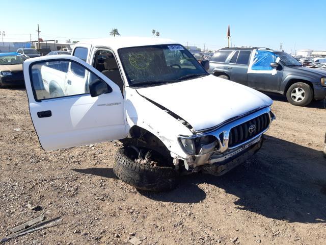 Salvage cars for sale at Phoenix, AZ auction: 2002 Toyota Tacoma DOU