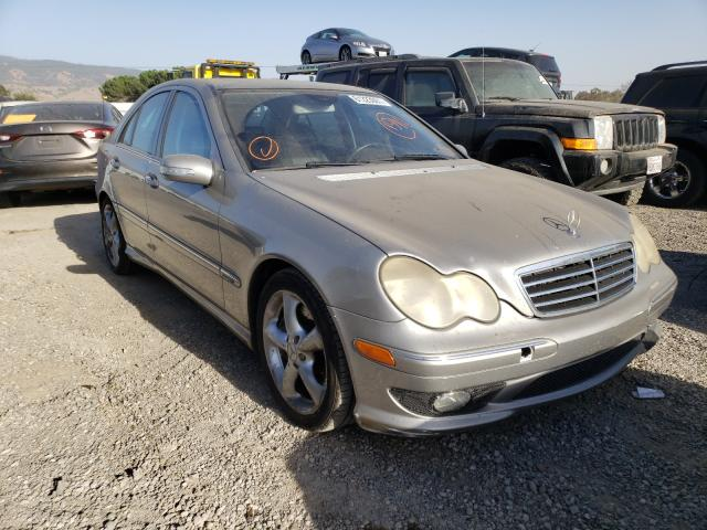 Salvage cars for sale from Copart San Martin, CA: 2005 Mercedes-Benz C 230K Sport