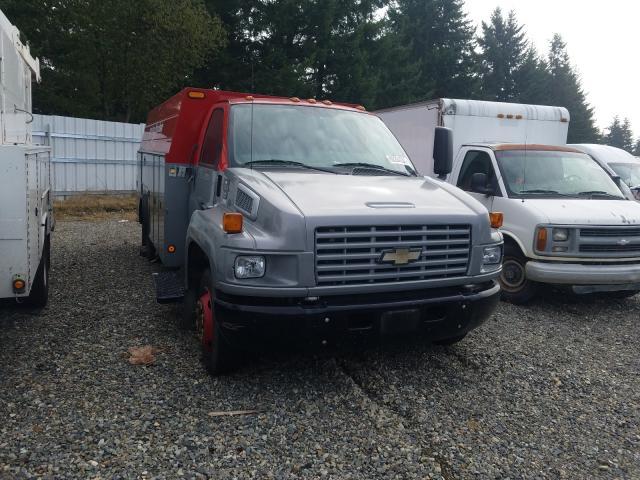 Salvage trucks for sale at Graham, WA auction: 2007 Chevrolet C5500 C5C0