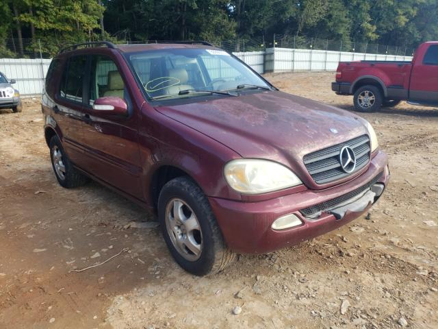 Salvage cars for sale from Copart Austell, GA: 2003 Mercedes-Benz ML 350