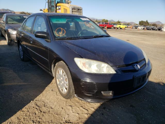 Salvage cars for sale from Copart San Martin, CA: 2004 Honda Civic LX