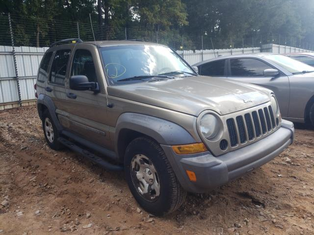 Salvage cars for sale from Copart Austell, GA: 2007 Jeep Liberty SP