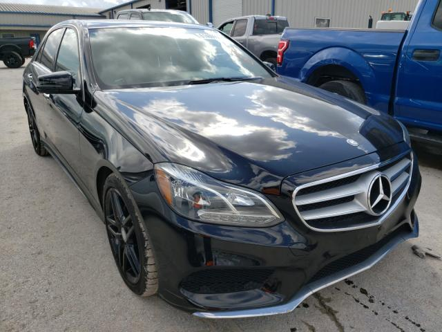Salvage cars for sale from Copart Houston, TX: 2016 Mercedes-Benz E 350 4matic
