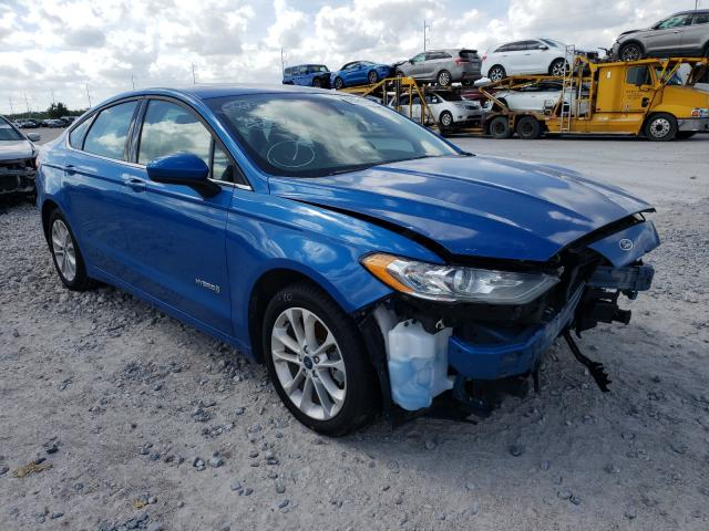 Salvage cars for sale from Copart New Orleans, LA: 2019 Ford Fusion SE