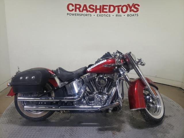 Salvage motorcycles for sale at Dallas, TX auction: 2013 Harley-Davidson Flstn Soft
