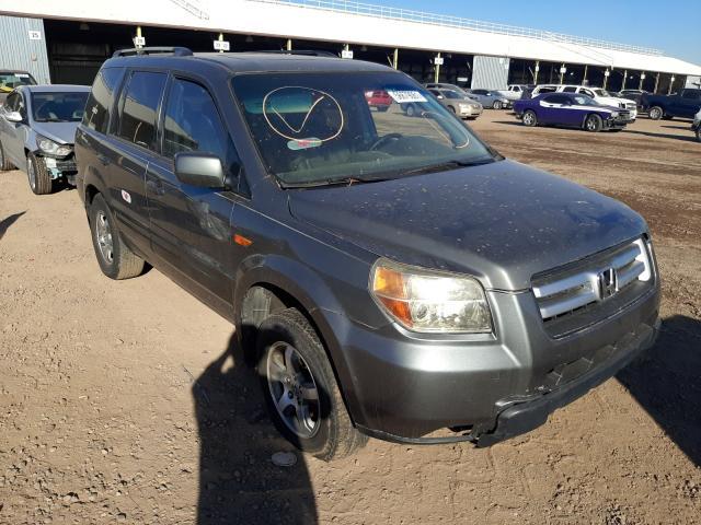 Salvage cars for sale from Copart Phoenix, AZ: 2007 Honda Pilot EXL