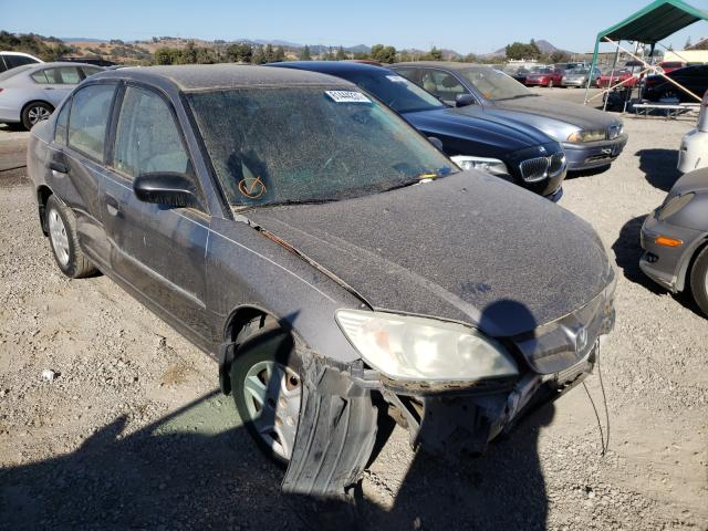 Salvage cars for sale from Copart San Martin, CA: 2005 Honda Civic DX
