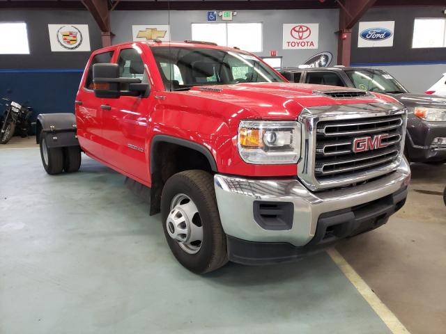 Salvage trucks for sale at East Granby, CT auction: 2019 GMC Sierra K35