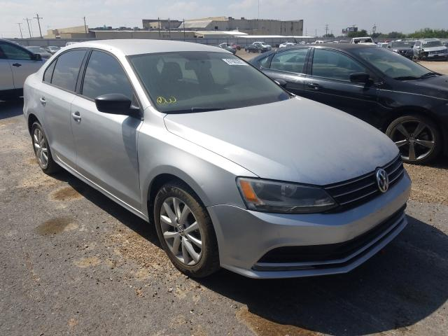 Salvage cars for sale from Copart Mercedes, TX: 2015 Volkswagen Jetta SE