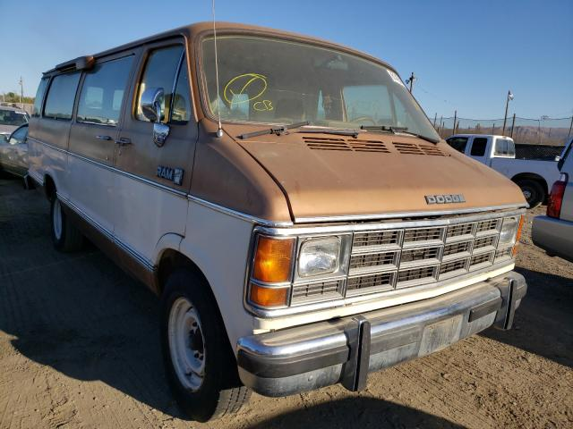 Salvage cars for sale from Copart San Martin, CA: 1987 Dodge RAM Wagon