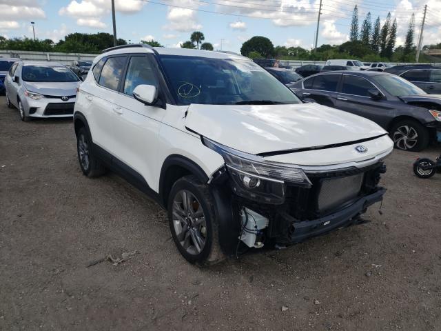 KIA salvage cars for sale: 2021 KIA Seltos S