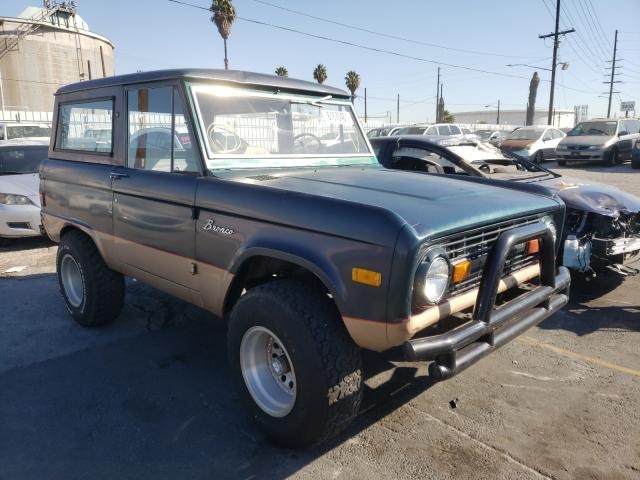 Ford Bronco salvage cars for sale: 1977 Ford Bronco