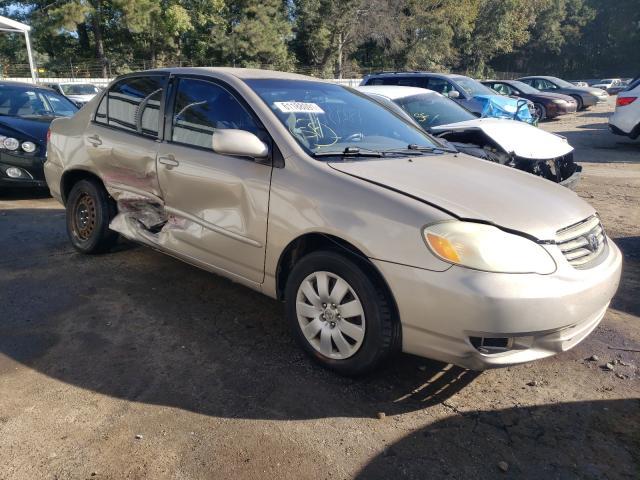 Vehiculos salvage en venta de Copart Austell, GA: 2003 Toyota Corolla CE