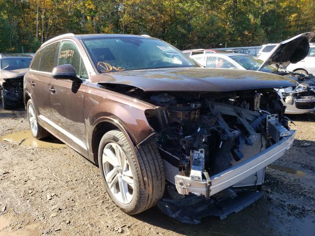 Salvage cars for sale at Lyman, ME auction: 2021 Audi Q7 Premium