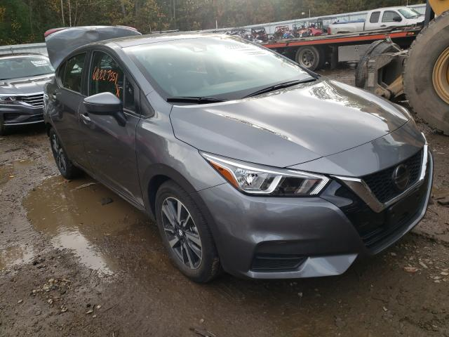 Salvage cars for sale at Lyman, ME auction: 2021 Nissan Versa SV